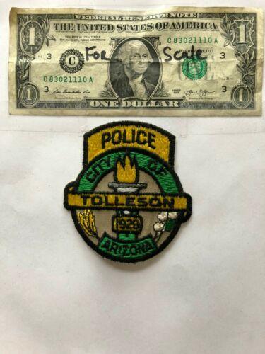 Rarer Tolleson Arizona Police Patch un-sewn mint condition