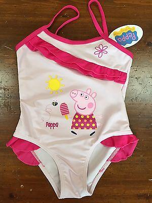 New Pink Peppa Pig Swimsuit Swimming Costume Peppa IcePop 4T 6T](Peppa Pig Costumes)