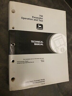 John Deere 750 Excavator Operation And Test Technical Manual