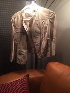 Zara leather jacket small