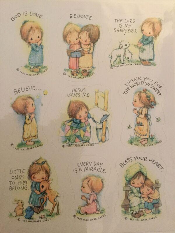 Vintage 1982 Hallmark Betsey Betsy Clark Sticker Sheet Religious Spiritual