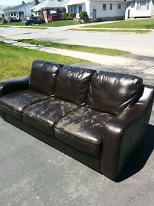 Leather couch.. 7 years old..