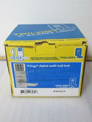 Alarm Lock Trilogy DL2875IC/3-R Audit Trail Security Lock 200 Users [CTOKT]