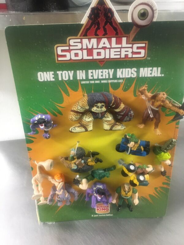 Vintage Rare 1998 Burger King Advertising Display Small Soldiers Collectible Toy