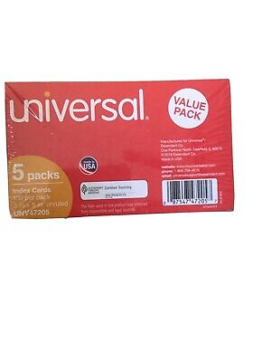 Universal Ruled Index Cards 4 X 6 White 500pack 47235