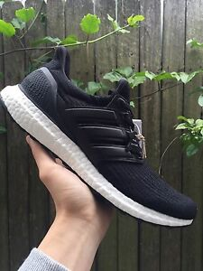 Ultra boost ltd black leather US9 Eastwood Ryde Area Preview