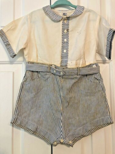 Vintage Toddler Playsuit 1950 Peter Polly Togs Clothes