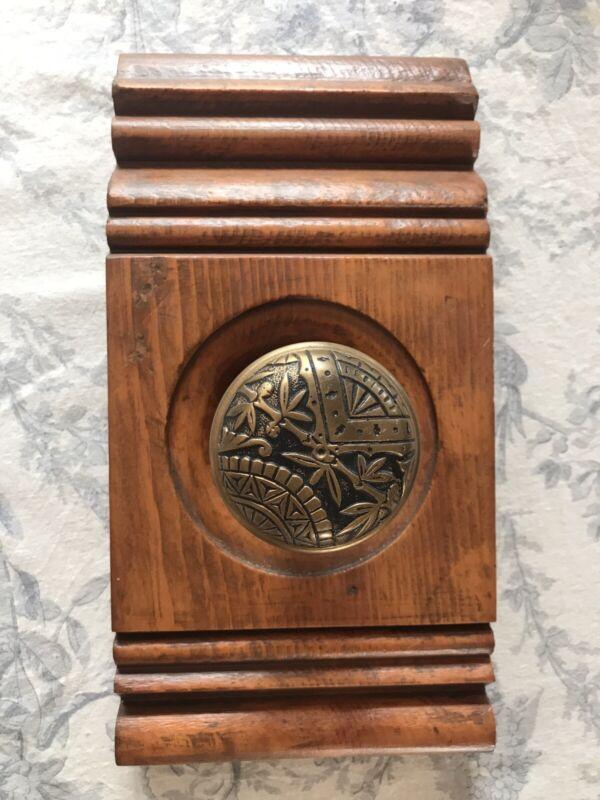 Antique Eastlake Door Knob w/ Antique Trim Coat Rack Coat Hook