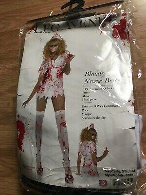 leg Avenue bloody nurse Betty three-piece costume women's small/medium Halloween](Small Halloween Costumes)
