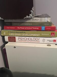 Psychology, history, philosophy textbooks, mint condition