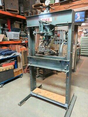 Dake 50 Ton Hand Operated Presses H- Frame Hydraulic Press H 50 Arbor Press