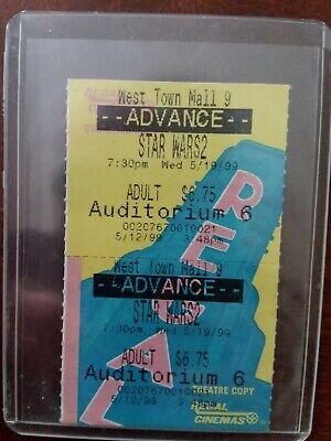 Unused Ticket Star Wars Phantom Menace 5/19/99 Opening  Night Wednesday 7:30pm