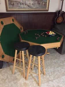 Round Bumper Pool / Poker Table