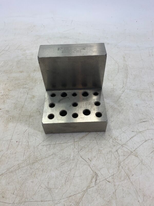 Suburban Tool machinist Right angle hole block Grinding 2.75 x 2.75 x 4""