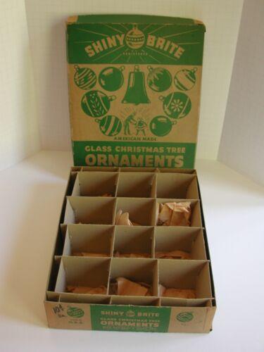 "Vintage EMPTY Shiny Brite 12 Section Christmas Ornament Box  - 11.5"" x 8"" x 2"""