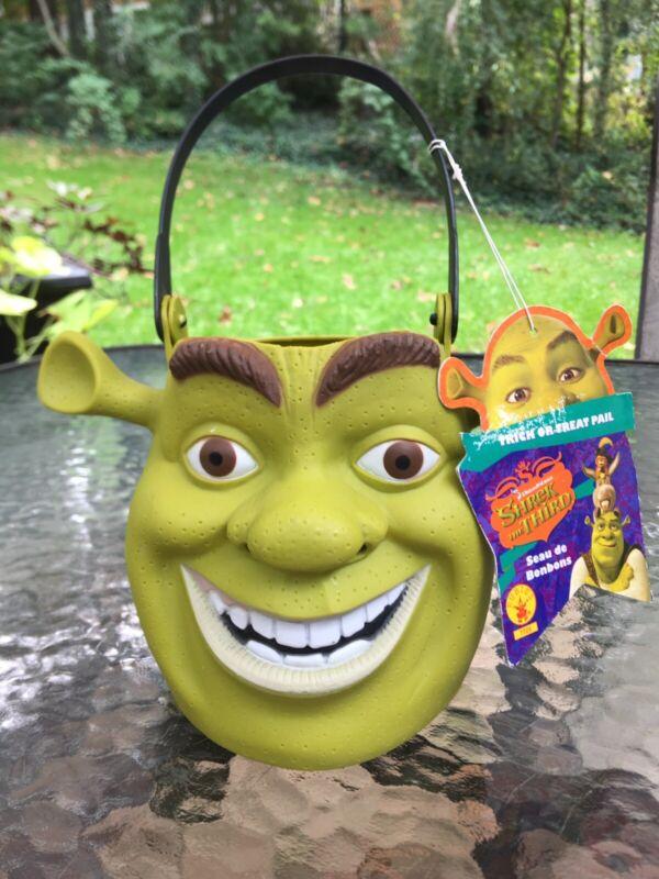 Shrek The Third Halloween Trick Or Treat Candy Bucket Pail Rubie's Costume 2007