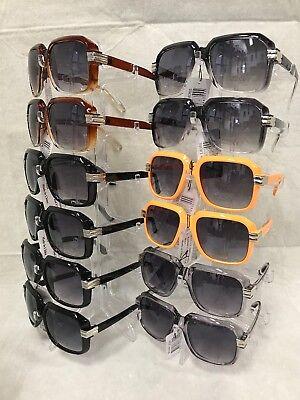 L8355 Men's Rapper Fashion Square Hip Hop Sunglasses Wholesale 12 (Hip Hop Sunglasses Wholesale)