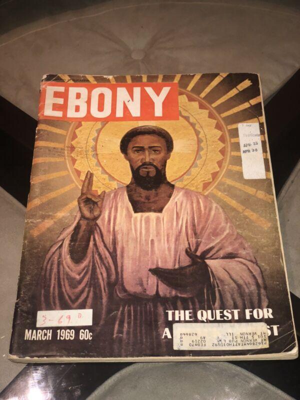 "Ebony Magazine~ HOLY GRAIL ~1969  ""QUEST FOR A BLACK  JESUS CHRIST"" Very Rare"