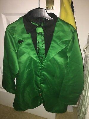 Boys Large Riddler jacket & hat costume