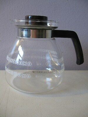 MELITTA REPLACEMENT GLASS CARAFE --  WITH PATTERN -- CORNING BRAND 4-8 CUP POT