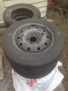Rims 5 x 114.3 with summer tires $100