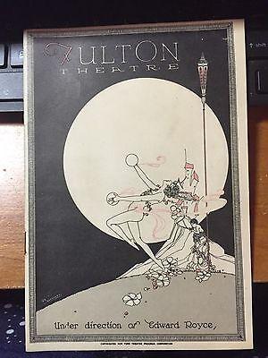 1923 PLAYBILL BROADWAY FULTON THEATRE SAM H. HARRIS