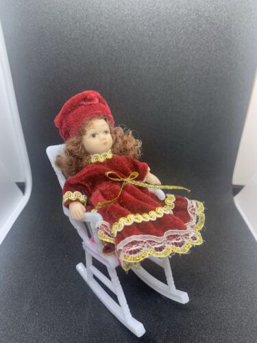Doll In A Rocking Chair 4 Inches - $14.00