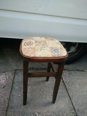 Vintage/ Retro Solid Wood Dressing Table /  Piano Stool.