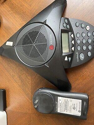 Polycom Soundstation 2 Corded Conference Phone - Black Analog Phone