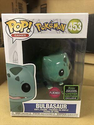 BOX DAMAGE Bulbasaur Funko Pop Pokemon 453 Flocked 2020 Spring Convention