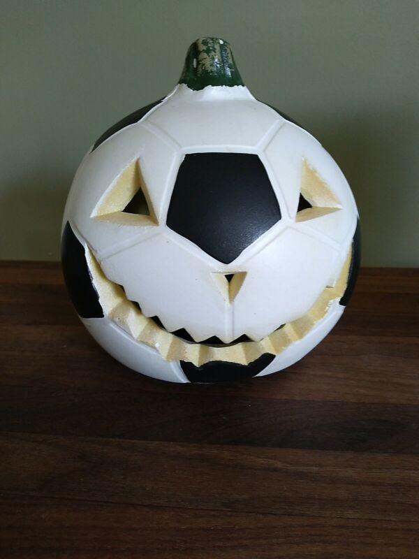 Halloween Foam Blow Mold Jack o lantern light up Soccer Ball Pumpkin Gemmy