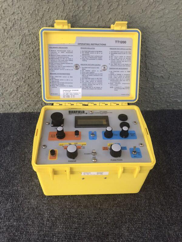 BARFIELD INC. MODEL TT1200 DIGITAL TURBINE ENGINE TEMP TEST SET WITH CALIBRATION