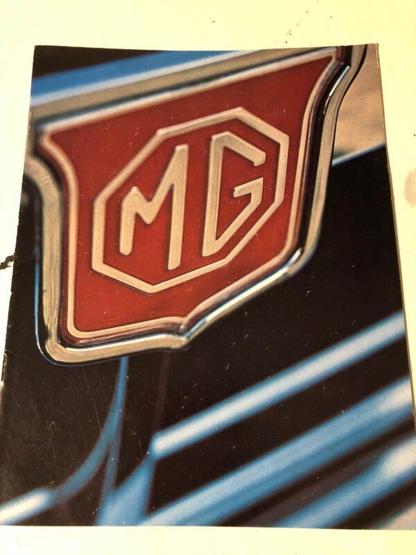 Circa 1973 MG MGB Original Sales Brochure