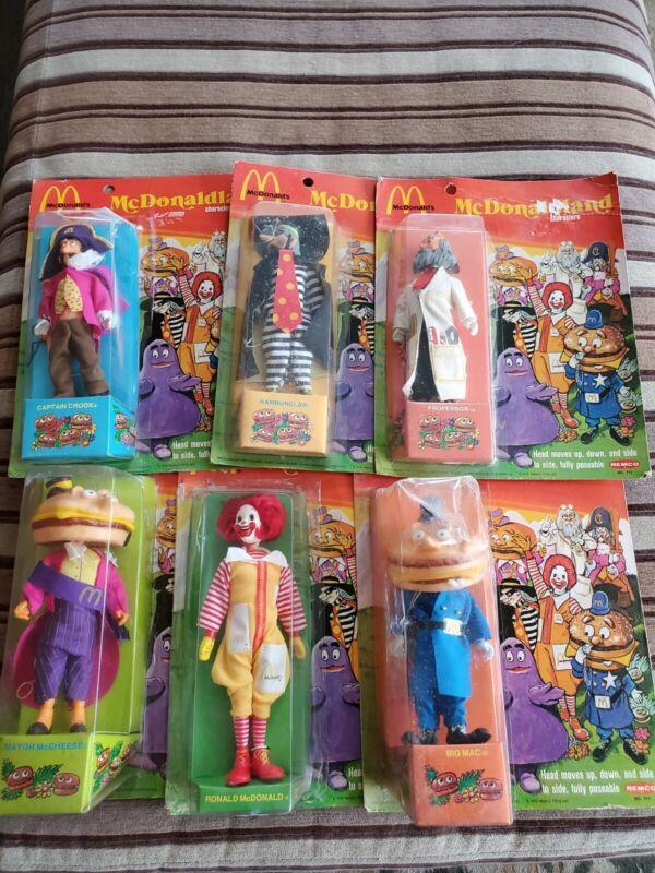 NIB McDonaldland Characters 1976 Remco Toys Partial Set of 6 McDonalds