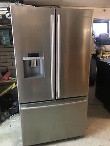 SILVER FRENCH DOOR FRIDGE FREEZER WITH WATER AND ICE Southport Gold Coast City Preview