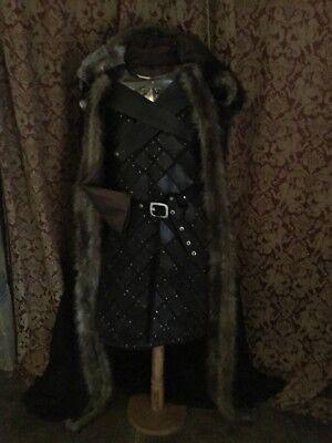Game Of Thrones Jon Snow Season 7 Stark Armor Cloak Gorget Costume](Game Of Thrones Cloak)