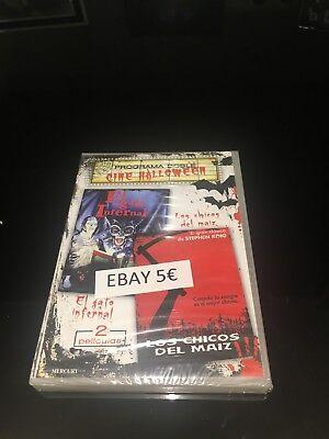 EL GATO INFERNAL / LOS CHICOS DEL MAIZ DVD 2 PELICULAS CINE HALLOWEEN