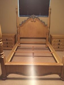 Four Poster Solid Wood Queen Bed Frame