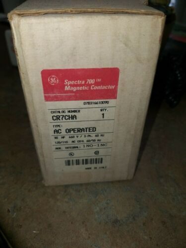 GENERAL ELECTRIC CONTACTOR CR7CHA 30HP 460V 3-PH 60HZ