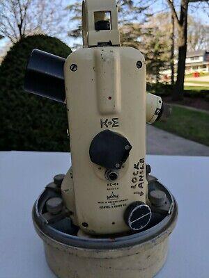 Vintage U.s. Navy Keuffel Esser Theodolite Surveying Directional With Case
