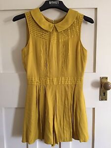 Top shop mustard yellow playsuit Coogee Eastern Suburbs Preview