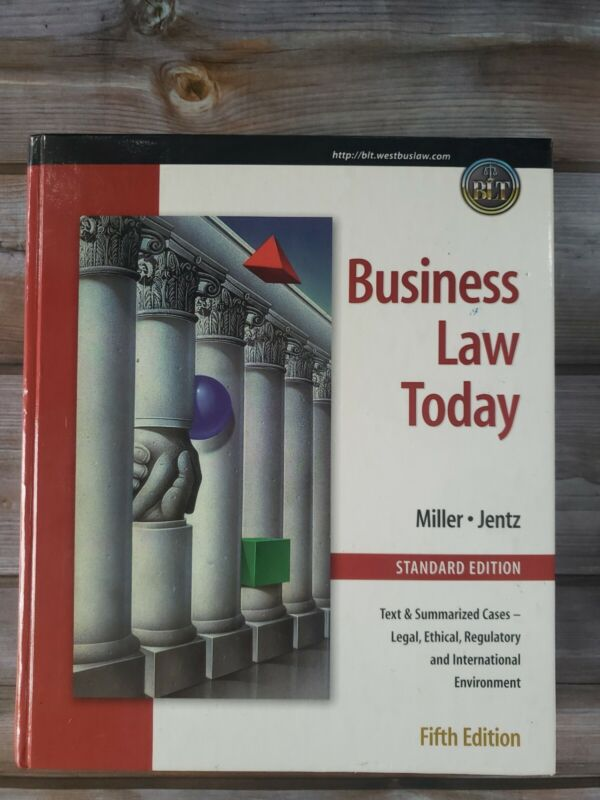 Business Law Today Comprehensive Fifth Edition Textbook Cases Legal Miller Jentz
