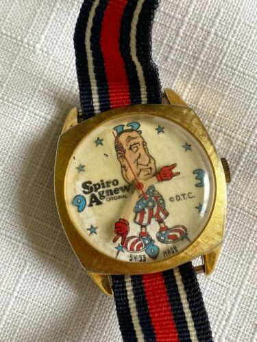Spiro Agnew Original Swiss Made Wristwatch, Political Memorabelia