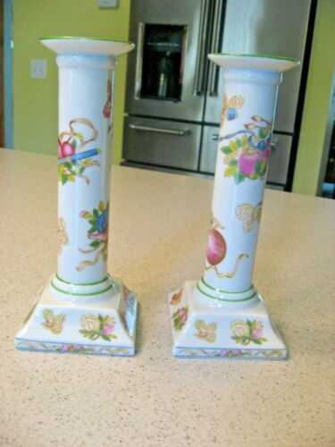 Vintage Andrea by Sadak Lot of 2 Japan Ceramic Candle Holders Flowers and Fruits