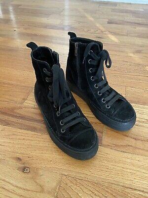 ann demeulemeester black suede sneaker/boots 38.5/8.5
