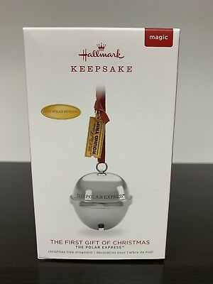 2018 Hallmark Keepsake POLAR EXPRESS First Gift Of Christmas Bell Magic Sound!