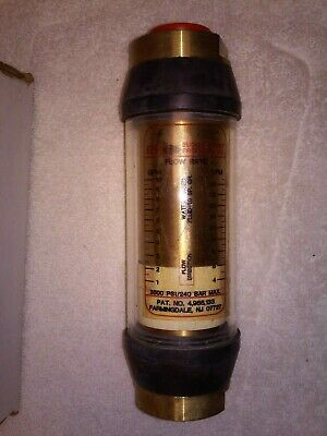 B4b-6wc-10 Eep Basic Flow Meter - Brass - Water Use - 34 Nptf 1 To 10 Gpm
