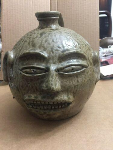 Billy Ray Hussey Face Jug  North Carolina Pottery