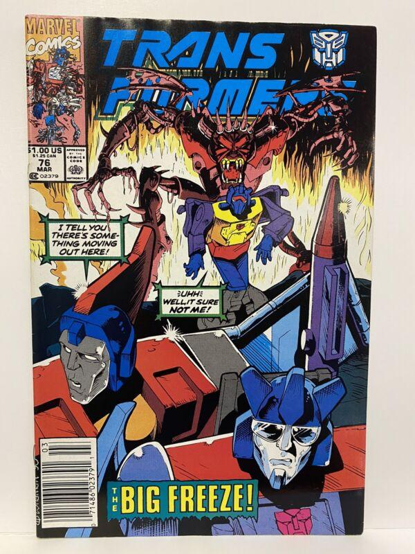 Transformers Marvel Comics #76 The Big Freeze SCARCE NEWSSTAND EDITION NM Marvel