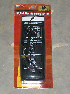 Digital Electric Fence Tester Deft-afw New. Free Sh